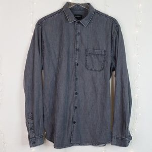 Frank & Oak | Black Casual Button Down Shirt